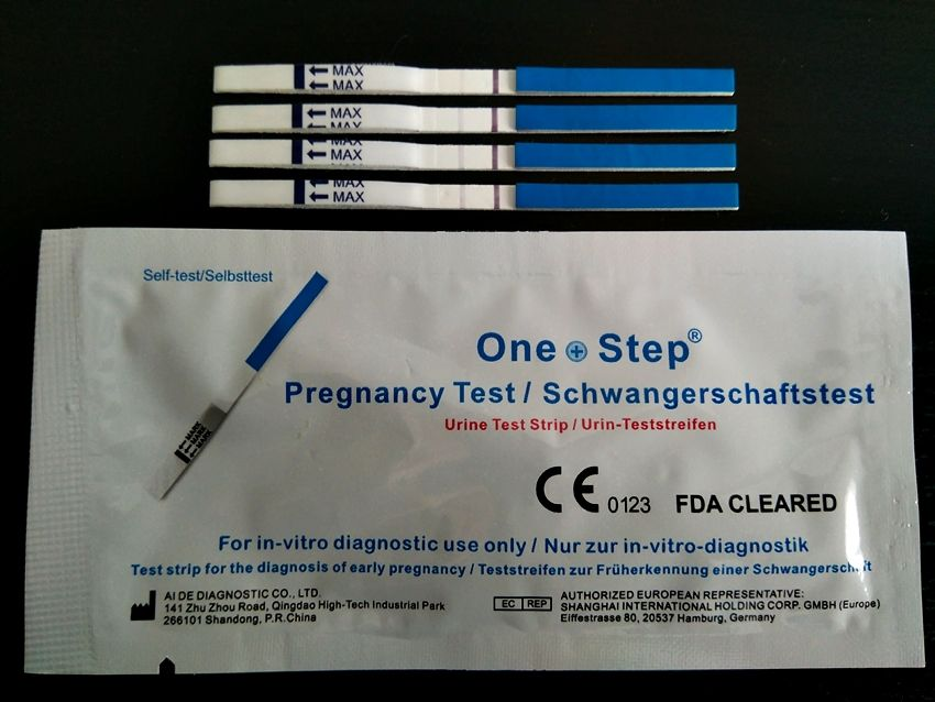 test embarazo positivo débil one step